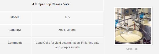 4 X Open Top Cheese Vats