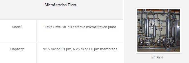 microfiltration plant