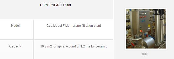 UF/MF/NF/RO Plant